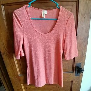Buckle, Size S, coral lace top